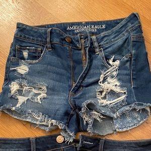 American Eagle Jean Shorts. High rise Shortie